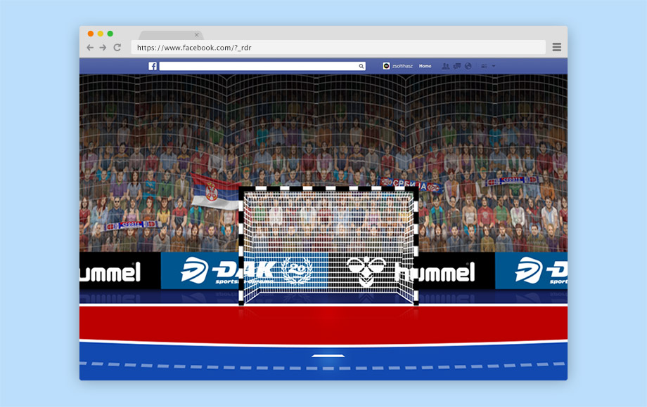 Djak Sport Belgrade Facebook Game Apps Design - Handball