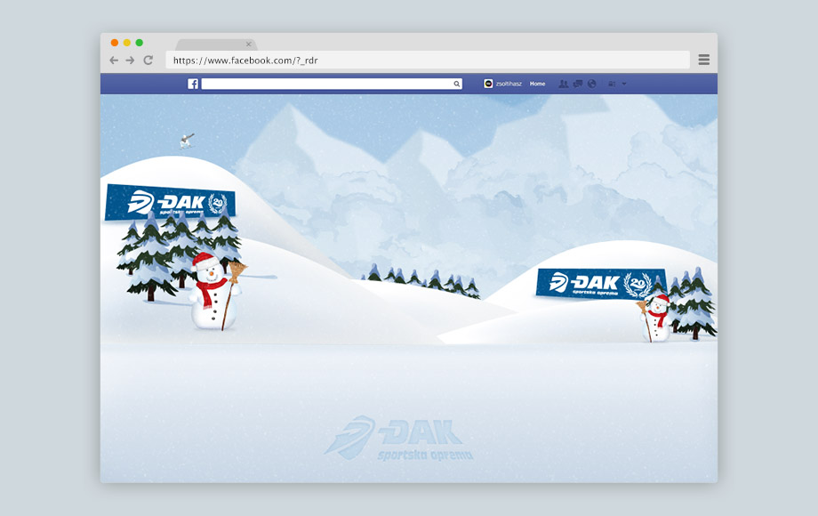 Djak Sport Belgrade Facebook Game Apps Design - Snowball